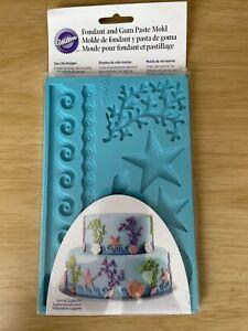 Wilton Fondant and Gum Paste Mold SEA LIFE DESIGNS  409-2552 (1134)