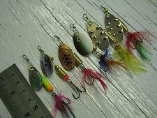 D135. 6 Misto Spinners 4g-7g # 1 - # 3 M VIB Esche ESCA BASS salmone luccio trota di mare