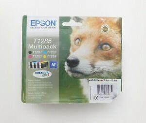 GENUINE EPSON T1285 MULTIPACK CMYK ink cartridges Jul 2023 SX430W BX305F BX305FW