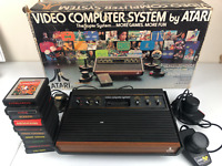 Atari 2600 Video Computer System in Box 10 Games Joysticks PLEASE READ