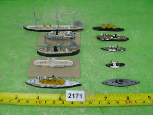 vintage waterline model ships mixed lot some to complete inc 35 kais max 2171