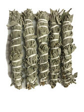 """12""""-13"""" Long Wild California White Sage Smudge Stick Pack of 5 Free Shipping"""