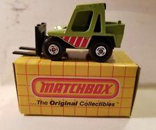Matchbox. 1977. MIB. MB #28. Fork Lift Truck. Green. Brand New!!!      C21#61dr