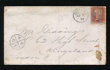 IRELAND 1879 RAILWAY QUARTERED CIRCLE POSTMARK PENNY RED to KINGSLAND GB
