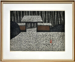 Saito Kiyoshi: Onri-an Arashi-yama Kyoto. (1964). Sign. O.-Farbholzschnitt.