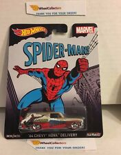 '64 Chevy Nova Delivery Spider-Man * Hot Wheels Pop Culture MARVEL * D19