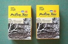 GREEK PURE GUM MASTIC TOP QUALITY OF CHIOS ISLAND LARGE TEARS TWO PACKS OF20gr
