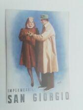 Cartolina Pubblicitaria Boccasile Impermeabili San Giorgio Vestiti Cappotti
