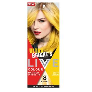 Schwarzkopf Ultra Brights Semi-Permanent Hair Colour 8 Washers - Lemon