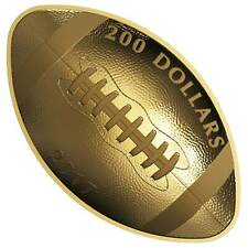 Canada 2017 $200 Football-Shaped and Curved 1 oz. Pure Gold Coin  Canadian Mint