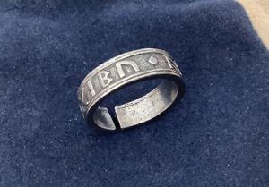 Viking Silver Pewter Rune Ring