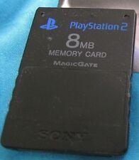 Original Sony PlayStation 2 Speicherkarte Memorycard 8 MB (Megabyte) Schwarz