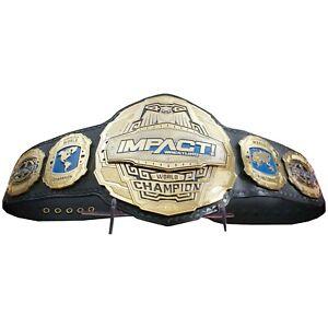 New Impact Wrestling World Champion Replica Leather Belt Size Adult 2mm Plates