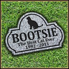 "Pet Memorial Grave Marker 8"" x 12"" Personalized Cat Headstone Gravestone"