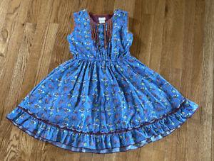 MATILDA JANE Secret Fields Forget Me Not Blue Sleeveless Dress Size 10 Floral