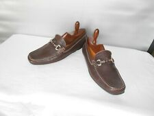 Men's Geox Brown Leather Casual Italia Bit Loafers Size 12 D 45