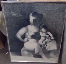 signed manolo ruiz pipo maternité III lithograph
