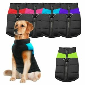 Pet Dog Vest Jacket Warm Waterproof Clothes Winter Padded Coat S-7XL OR leash US