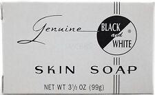 GENUINE BLACK AND WHITE SKIN BODY BAR SOAP 3.5 OZ.