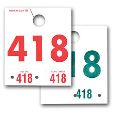 Service Department Dispatch Number Hang Tags - 000 through 999