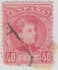 Stamp(SP45) 1900 Spain 40c Pink ow302