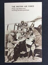 Vintage RPPC: Rare Image: Military #M255: British Air Force: Pilots Plane