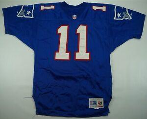 Rare VTG WILSON Drew Bledsoe New England Patriots Authentic Sewn Jersey 90s 46