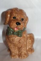 NEW! NEIMAN MARCUS YuYu Labradoodle Dog Christmas Xmas 2 Pc Ceramic Cookie Jar