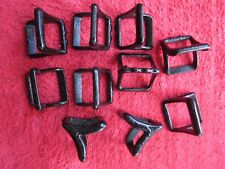 10 VINTAGE NOS TWIN LOOP HORSE HARNESS / HAMES PART HARDWARE