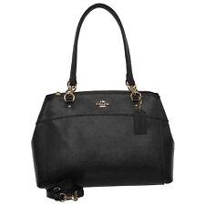 NWT Coach F25926 Leather Large Brooke Carryall Crossbody Handbag Purse Black
