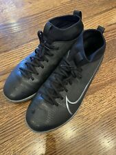 Nike Mercurial Superfly 7 Academy Indoor Turf Soccer Shoes Black - Youth Size 6