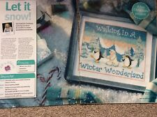 'walking In A Winter Wonderland' Christmas Scene Cross Stitch Chart Only (636)