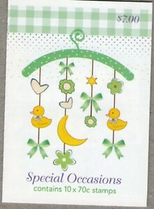 2014 AUSTRALIAN STAMP BOOKLET BABY - SPECIAL OCCASIONS - 10 x 70c MUH