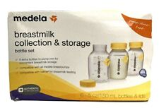 New listing Medela Breast Milk Collection And Storage Bottles 6 Pack 5 Oz Containers