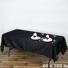 45 Pk 60x102 in. Polyester Rectangle Seamless Tablecloth Wedding Party