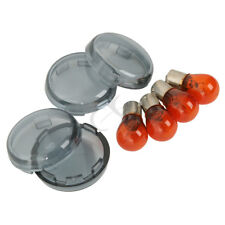 Smoked Turn Signal Lenses W/ Bulbs For Harley Softail Dyna Sportsters 2002-2013