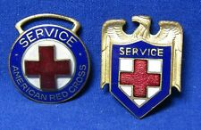 WWI American Red Cross Service Badges Lot Of 2