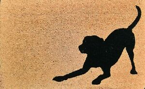 Doormat PVC Back Coir Natural Dog 50x80cm