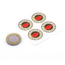 Borrani Wheels Stickers classic car vintage vinyl decals 25 mm x4 Wire wheels