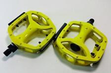 Alloy Pedal 1/2 yellow Mtb BMX Cruiser Urban Durable Aluminum (one piece crank)