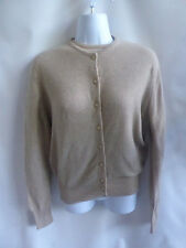 Vintage 50s Cashmere Sweater Size M Taupe Cardigan Twinset Connaught Jumper