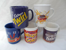 Cadbury's Mug x 5 - Twirl Tasters Crunchie Time Out Wispa Gold - Lot D