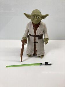 "Star Wars Yoda 8"" Figure with Walking Stick & Lightsaber"