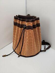 Basket of Cambodia purse, bag, backpack.