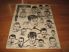 Rare BOBBY ORR Boston Bruins 1970 STANLEY CUP CHAMPIONS Drawing Poster