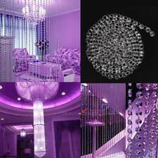 DIY 33 FT Clear Acrylic Crystal Bead Garland Chandelier Hanging Wedding  Decro