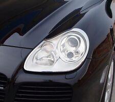 IDFR Porsche Cayenne 2003-2006 chrome front lamp frame, head lamp bezel