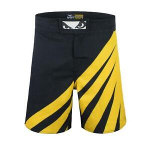 Bad Boy MMA Impact Shorts Black / Yellow Training Fight Gym Martial Arts