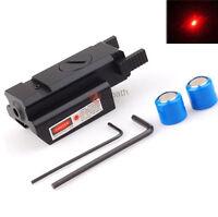 Red Dot Mini Laser Sight for 20mm Picatinny Weaver Rail Mount Pistol Gun Rifle