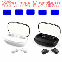 Bluetooth 5.0 Headset TWS IPX7 Wireless Earphones Mini Earbuds Stereo Headphones